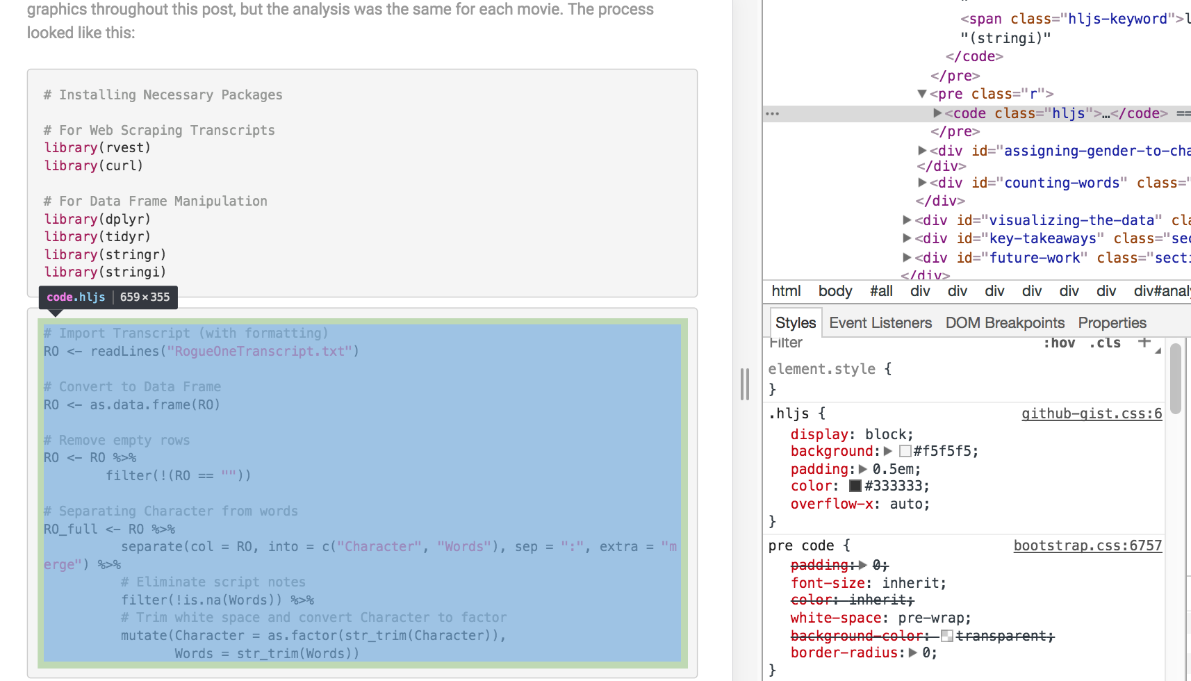 Adding Syntax Highlighting to Blogdown Posts | Amber Thomas Data